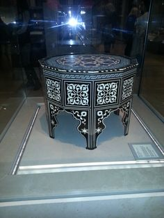This is a photo of a table from the Victoria and Albert Museum I have captured. I love the table because of the use of light and dark throughout the design they complement each other making the pattern on the table stand out to the viewer.