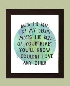 Young The Giant, Beat of my drum, Beat of your Heart, Watercolor Art,Typography… Concert Quotes, Song Quotes, Cool Lyrics, Music Lyrics, Lyrics To Live By, Quotes To Live By, Young The Giant Lyrics, Drums Quotes, Listening Quotes