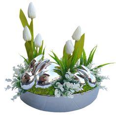 WIELKANOCNY STROIK ZAJĄCZEK ŚWIĄTECZNY WIELKANOC 7821702583 - Allegro.pl House Cleaning Tips, Cleaning Hacks, Jar, Easter, Erika, Spring, Plants, Beads, Flower Arrangements