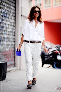 white & embellished. Vivs in Milan. #ViviannaVolpicella