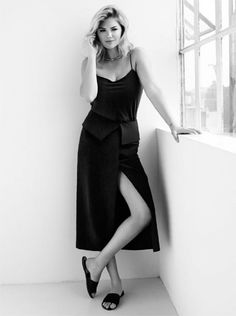 Kate Upton Is Crazy Sexy Cool in Black and White for The Edit via @WhoWhatWear