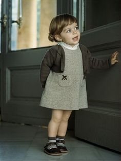 How adorable is this little girl's outfit? Cute as a button!