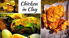 Baking Chicken Packed In Clay Baked Chicken Recipes, Fried Chicken, Tandoori Chicken, Chicken Lollipops, Korma, Stuffed Whole Chicken, Perfect Food, Bushcraft, Cooking Time