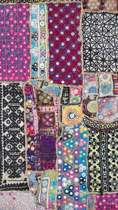 Bead Embroidery Patterns, Couture Embroidery, Beaded Embroidery, Machine Embroidery, Hand Embroidery, Bohemian Bedding Sets, Boho Tapestry, Vintage Textiles, Fabric Art