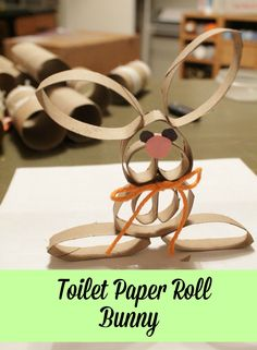 Turtles and Tails: Toilet Paper Roll Easter Bunny Toilet Roll Craft, Toilet Paper Roll Art, Toilet Paper Roll Crafts, Cardboard Crafts, Paper Towel Roll Crafts, Paper Towel Tubes, Paper Towel Rolls, Towel Crafts, Plate Crafts