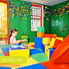 So a whole wall of lego boards is a little much, however a chair rail or stripes with this in a playroom is a great idea!