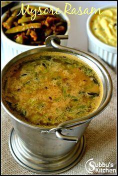 Mysore Rasam is one of the popular rasam in Karnataka. It's created using freshly made Rasam Masala poweder. Freshly roasted masala along with coconut gives distinct flavor and tastes good. Veg Sabji Recipe, Dal Recipe, Curry Recipes, Beef Recipes, Vegetarian Recipes, Cooking Recipes, South Indian Breakfast Recipes, Healthy Indian Recipes, Puran Poli Recipes