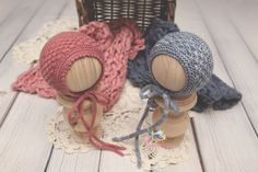Knitting Pattern, Knit PDF Pattern,  Newborn Hat Pattern, PHOTO shoot prop,  Knit, Tutorial, PDF, Newborn hat, Sara Bonnet by CreamoftheProp on Etsy Baby Knitting Patterns, Baby Patterns, Bonnet Pattern, Bonnet Hat, Knit Beanie Pattern, Easy Knitting, Hand Dyed Yarn, Knitted Hats, Etsy