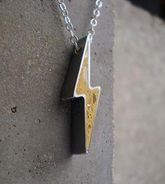 Lightning strikes. (Concrete jewelry)