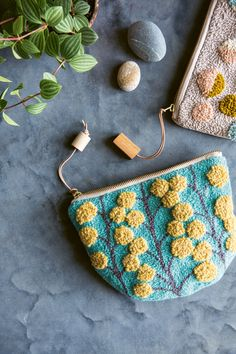 And Crafts Punch Needle Craft Book by Arounna Khounnoraj photography Catherine Frawley Handmade purses Handmade Purses, Handmade Gifts, Handmade Rugs, Book Crafts, Yarn Crafts, Bordado Floral, Halloween Kleidung, Rug Yarn, Punch Needle Patterns