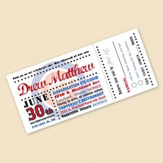 Baseball Ticket Party Invitations  Deposit to by FreshPaperStudios, $75.00