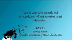 Do you get side tracked? #pricelessteachings of #pranichealing given to us by our teacher, Grandmaster Choa Kok Sui