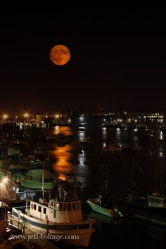 Full Moonrise over Newburyport Harbor ~ Massachusetts