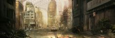 The Sprawl Concept art from Vincenzo Natali's Neuromancer movie project