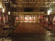 The Staging is set! The zodiac ceiling can begin it's restoration! Staging, Daily Pictures, Mural Painting, Zodiac, Restoration, Heavens, Ceiling, Earth, Refurbishment