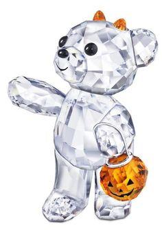 Swarovski Halloween Kris Bear with Orange Pumpkin   Swarovski Crystal Figurine. I WANT THIS!!