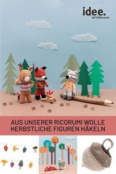Amigurumis häkeln: Die 8 lustigen Waldbewohner warten nur darauf, von dir nachgehäkelt zu werden! Jetzt die Anleitungen entdecken und dein Lieblingsmodell auswählen!  #diy #amigurumi #ricorumi #häkeln #anleitung #herbst