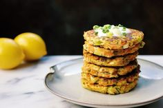 Zucchini Carrot Fritters with Paleo Sour Cream - IHeartUmami.com