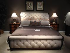 Liberty Tufted Bed | High Point Market | Look out for it at HomeGalleryStores.com