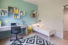 V dětském pokoji jsou modře vymalované stěny. Zdroj: Tomáš Dittrich
