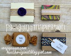 Packaging Inspiration with Heathoriginal #soapqueen #brambleberry