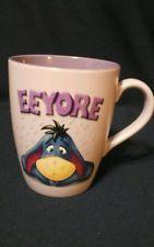 "Eeyore Disney Store Ceramic Coffee Mug Cup Winnie The Pooh Sad Rainy day 5"" tall"