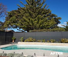 "Check out this fantastic before/after pool area face-lift that now features a fence made from #COLORBONDsteel #Monument. Of the material selection, says the owner, ""COLORBOND® steel is a great Australian product, and we love the colour [Monument®] as it creates a great backdrop"""