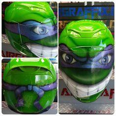 Custom Airbrushed Motorcycle Helmet by Airgraffix.com 345