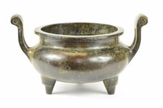Chinese Bronze Tripod Censer : Lot 205