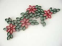 toilet paper roll art - make it into a christmas wreath