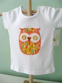 owl applique baby shirt