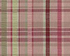 LAST PIECE - Waverly Party Plaid Vintage Seersucker Home Decorating Fabric