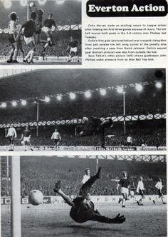 Everton v Chelsea 1971-72, at Goodison Park, Everton winning 2-0