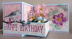 Handmade double Z birthday card -Stampin Up Z Cards, Step Cards, Easel Cards, Tri Fold Cards, Folded Cards, Bridge Card, Stampin Up, Pop Up Box Cards, Card Boxes