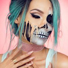This #Halloween inspo is insane. @desiperkins is both lovely and scary. #halloweenmakeup #halloweeninspo