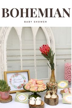 Bohemian Baby Shower Ideas More