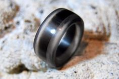 Clear Quartz and Rainbow Obsidian Stone Ring
