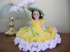 Southern Belle Air Freshener Doll Hand Crocheted in by PeggysPatch, $27.00