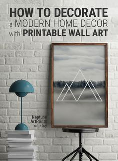 How to decorate a modern home decor with printable wall art  A geometric forest photograph with a sense of abstraction and modernism.  -- I N S T A N T - D O W N L O A D --  Hi, I'm Brandon, creator of Neptune Art Prints. As an artist, I'm constantly inspired by design trends around the world. My work is contemporary, modern and minimalistic.  Printable art is an easy and affordable way to personalize your home or office. You can print from home, your local print shop, or upload the fi...