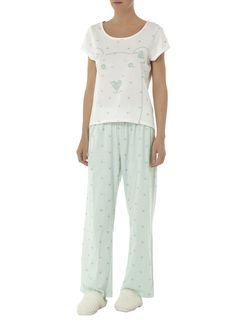 Cream Teddy Bear Top - Nightwear - Clothing - Dorothy Perkins