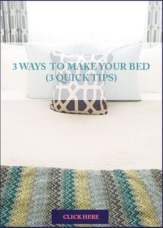 Finally you can make your bed in the morning quickly and on style.