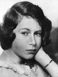 Mirror-June 1940: A portrait of Princess Elizabeth taken at Windsor Castle.