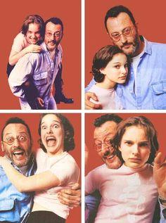 "Natalie Portman and Jean Reno on the set of""Leon""(1994)"