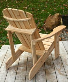 Woodworking Techniques Classic Cedar Adirondack Chair Handmade by Ozark Mountain Outdoor Furniture Plans, Woodworking Furniture, Rustic Furniture, Woodworking Projects, Classic Furniture, Woodworking Techniques, Woodworking Shop, Wood Adirondack Chairs, Outdoor Chairs