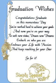 Poems Of Well Wishes For College Graduate 66