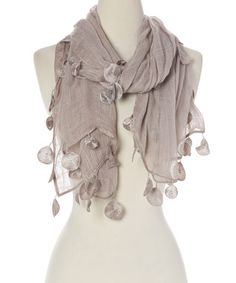 Gray Coin Lace Scarf