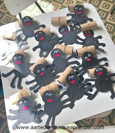Spider Crafts, Expo 2020, Kids Nursery Rhymes, Halloween, Children, Infant Activities, Kids Activity Ideas, Art Classroom, Hand Art