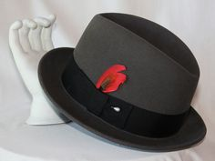 Vintage Fedora / Rockabilly / Bee Hats / Charcoal / Mad Men / Hipster / Mid Century / Hat