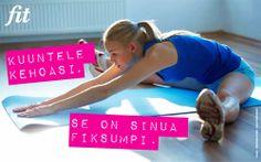 Kuuntele kehoasi. #tsemppi #fitpiration #motivaatio #fitlehti