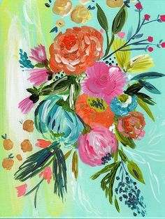Add a pop of whimsy and color to your decor with a boho bouquet limited edition print. Personally signed by Bari J. Printed on luxe heavy weight archival paper made to last. For the safest shipping, y